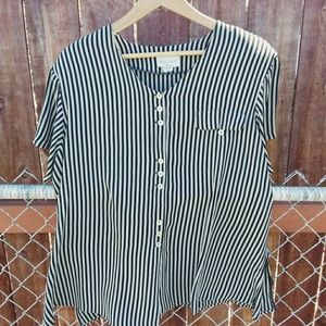 VINTAGE Camille Claudel Button Down Top 3XL
